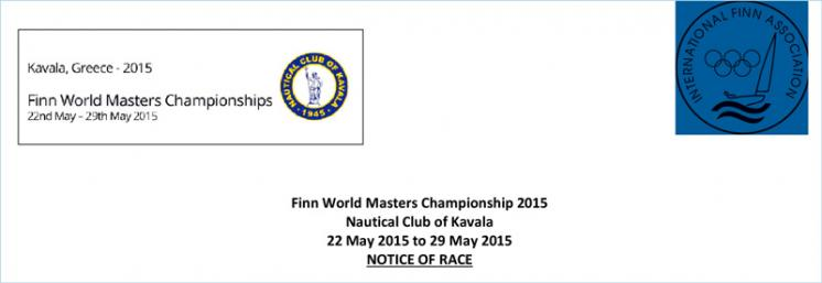 NOTICE OF RACE - Finn World Masters Championship 2015