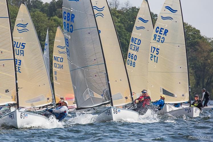Bas de Waal takes lead on second day at Finn European Masters at Schwerin in Germany