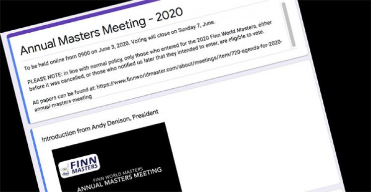 Minutes of the 2020 Annual Masters Meeting (online)