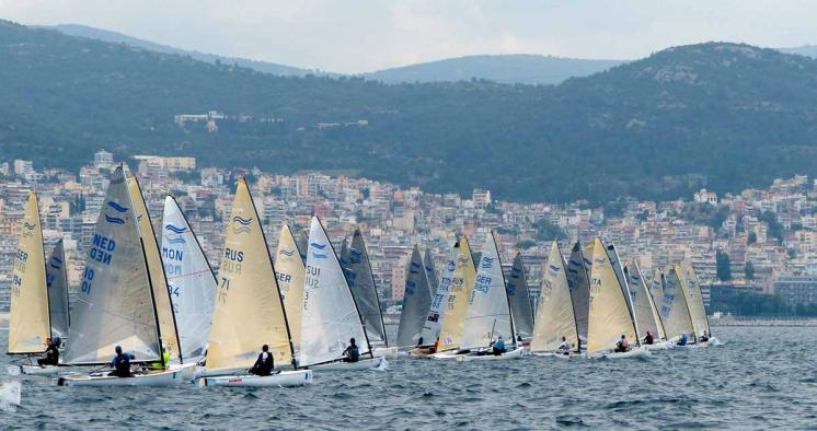 Yuri Tokovoi masters Kavala on first day at Finn World Masters