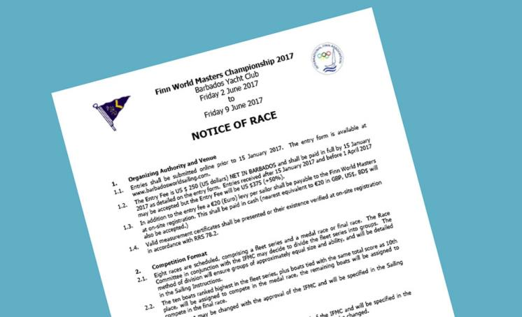Notice of Race published for Barbados 2017